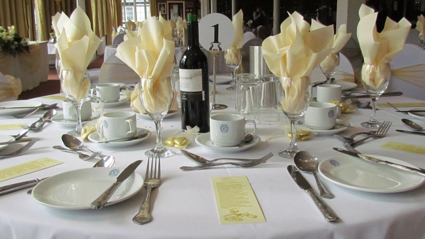 Table setting - customer's wedding