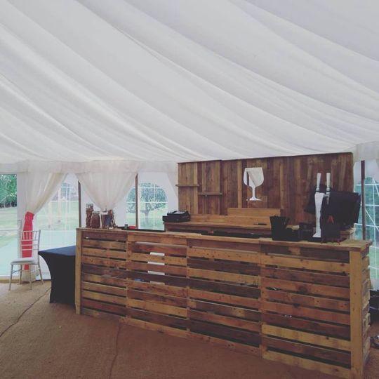 Full pallet bar & back bar