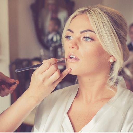 Wedding makeup time