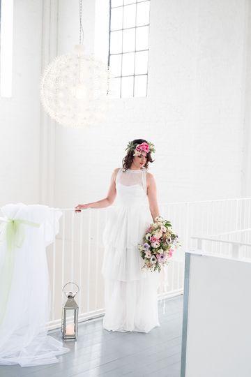 A gorgeous newlywed