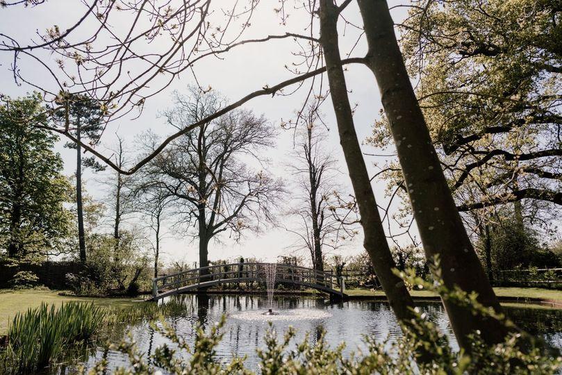 Bridge, Pond & Fountain