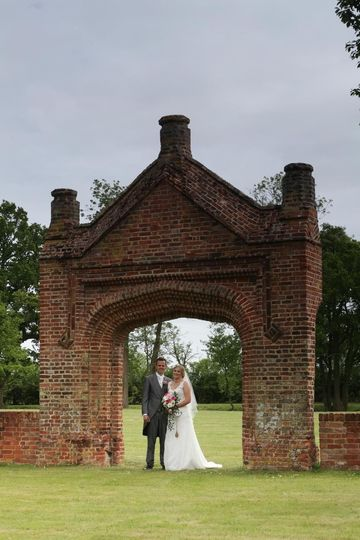 Bride and Groom under the arch
