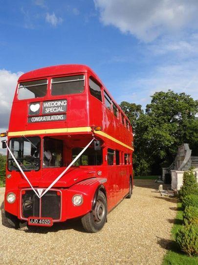 Eye-catching red bus