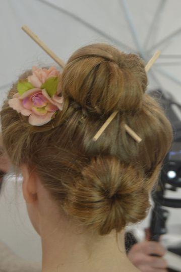Geisha hair