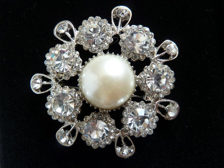 Pearl and Crystal Bouquet