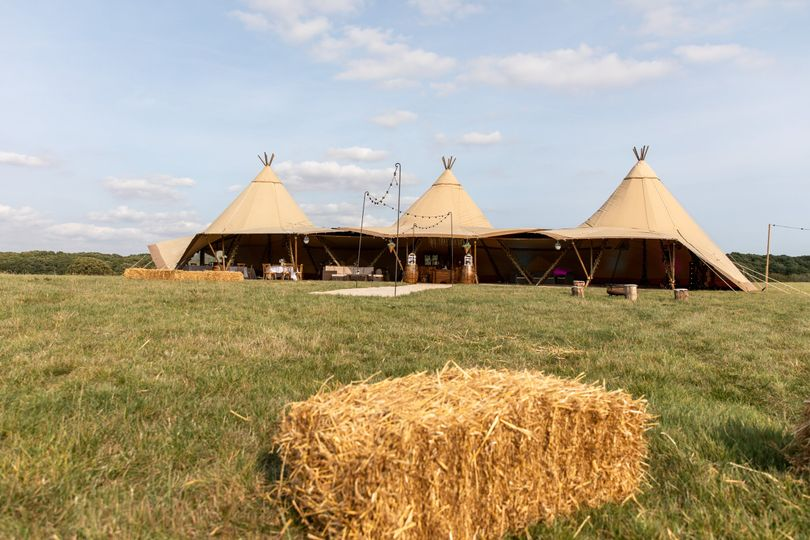 Hay and tipis