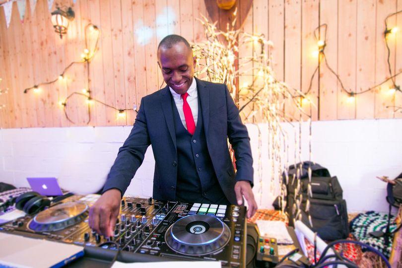 DJ Mark at a wedding