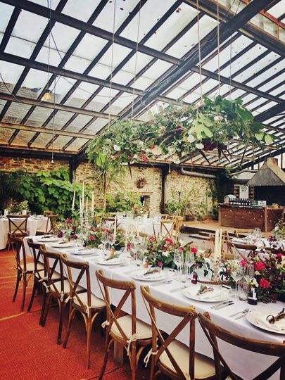 WEDDING BREAKFAST AT THE GLASS HOUSE