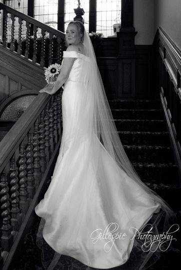 Bride on the stairs