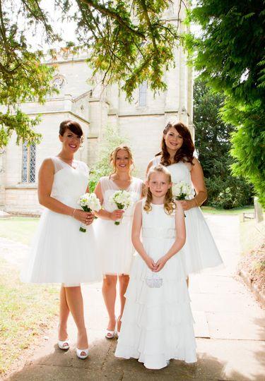 Tulle and chiffon bridesmaid d