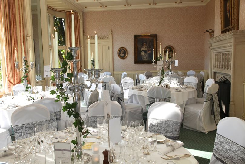 Horsted Place Drawing Room set up for a Wedding Breakfast