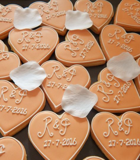 Personalised initials and date