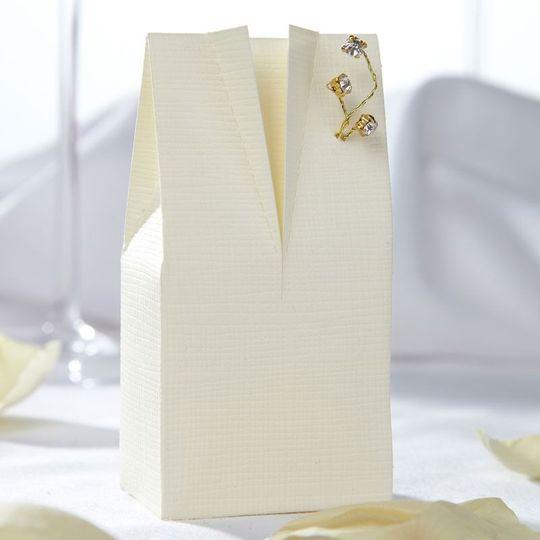 Ivory tux favour box