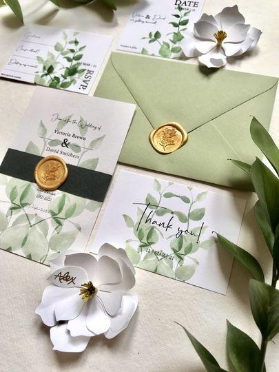 Vert invitation set