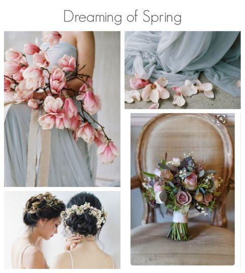 blue pinks chair bouquet 4 114727