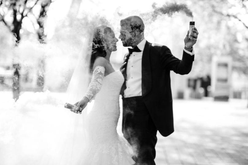 Couple in smoke