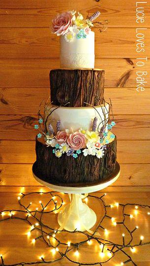 Rustic Woodland Wedding Cake