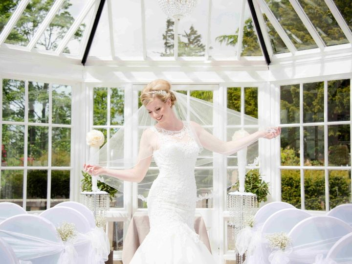 Bride in conservatory