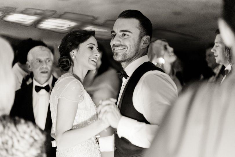 Newlyweds dancing