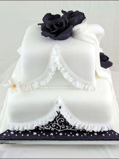 Midnight Wedding Cake