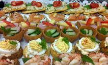 Hand crafted canapes
