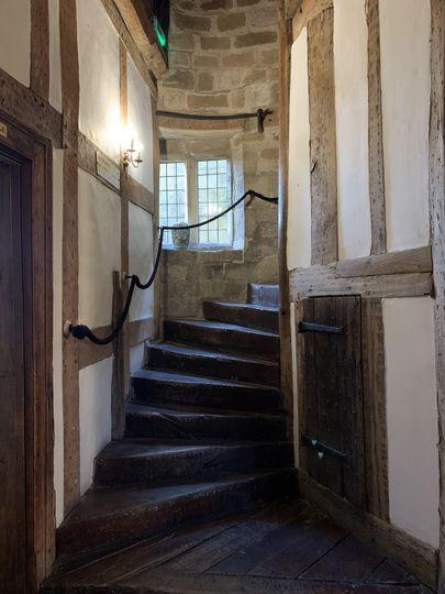 Main house spiral stair case