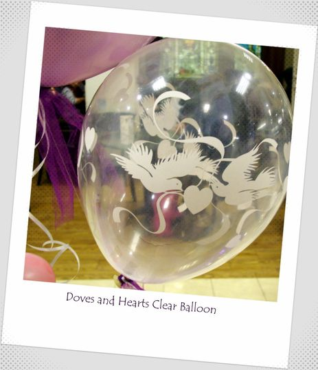 Clear Love Dove balloons