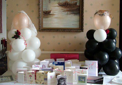 Bride & Groom balloon sculptur