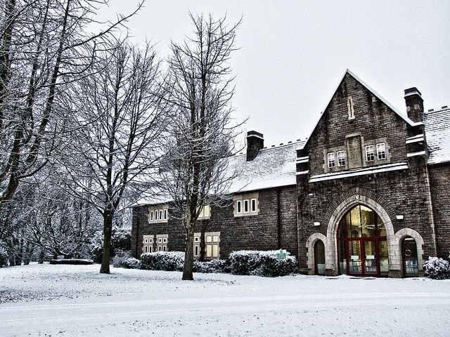 Anthony Hopkins Centre in the snow