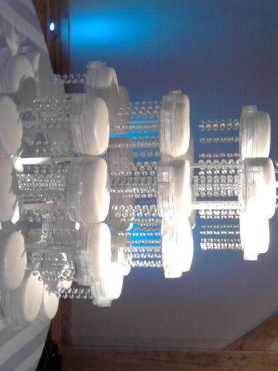 5 tiers silver and white