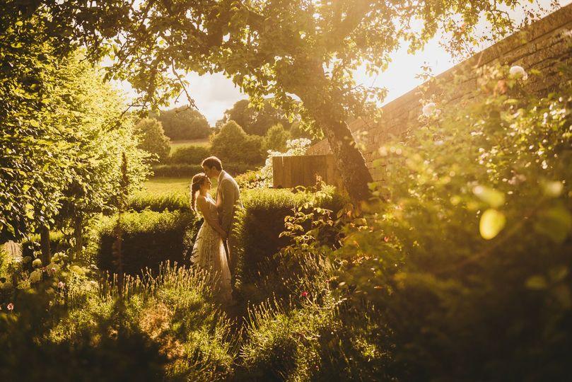 Golden hour cotswold couple