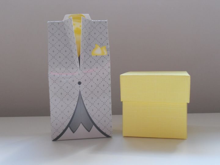 Tuxedo & Square Favour Boxes