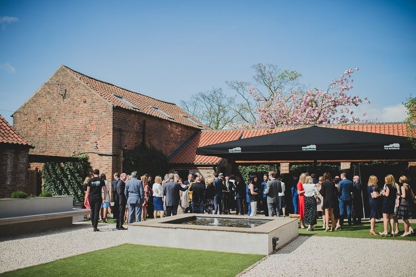 Sunshine, drinks and canapes
