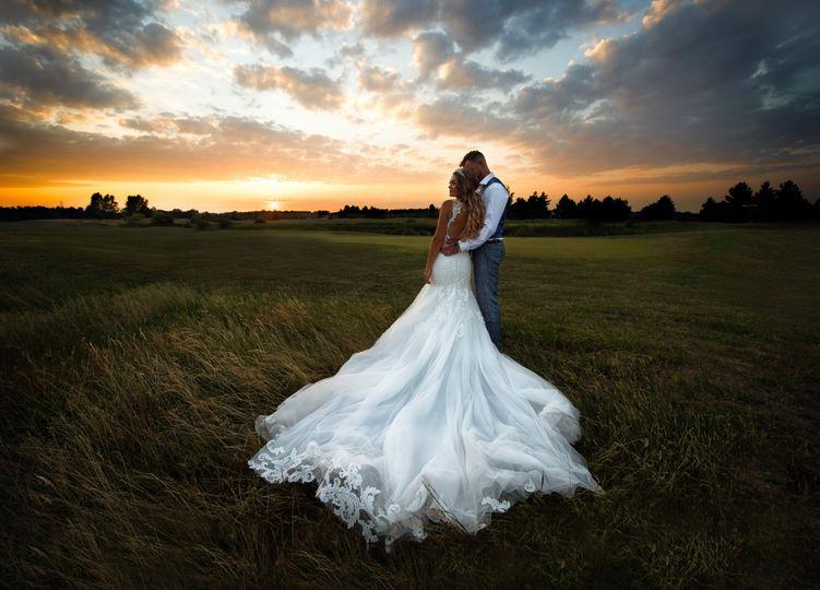 Scenic wedding photo