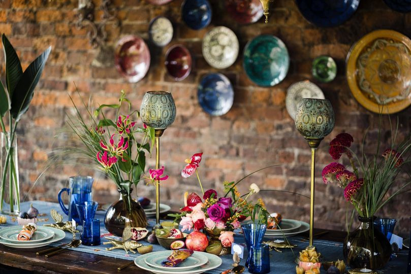 Moroccan inspired tablescape