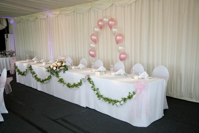 Top table floral swags