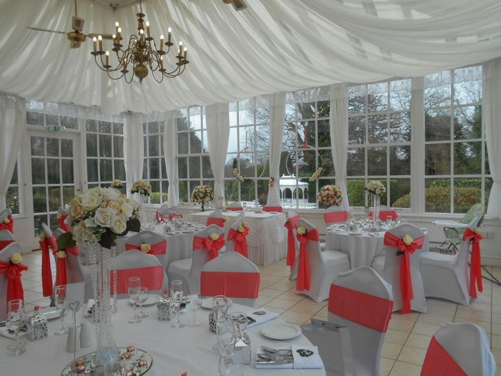 Meal in conservatory