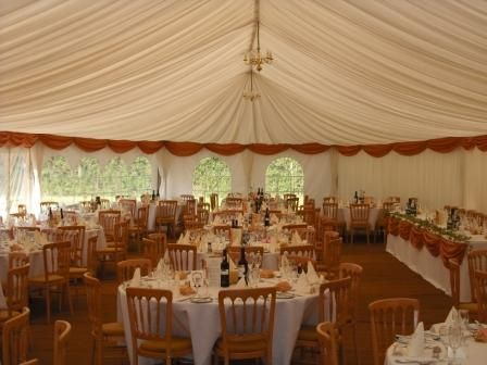 Wedding Marquee - ivory lining
