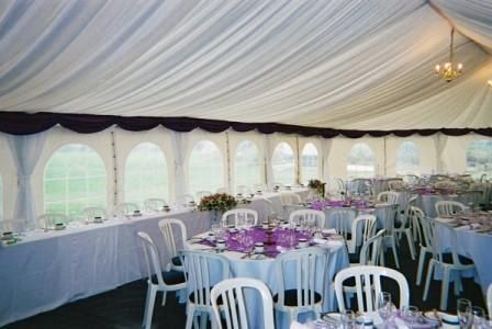 Wedding Marquee - white lining