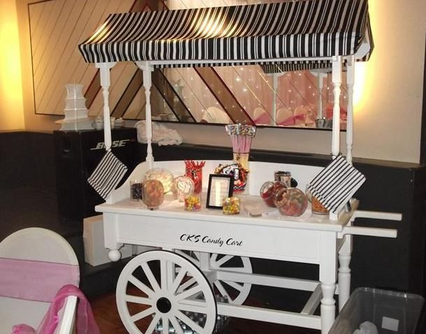 candy cart with sweets