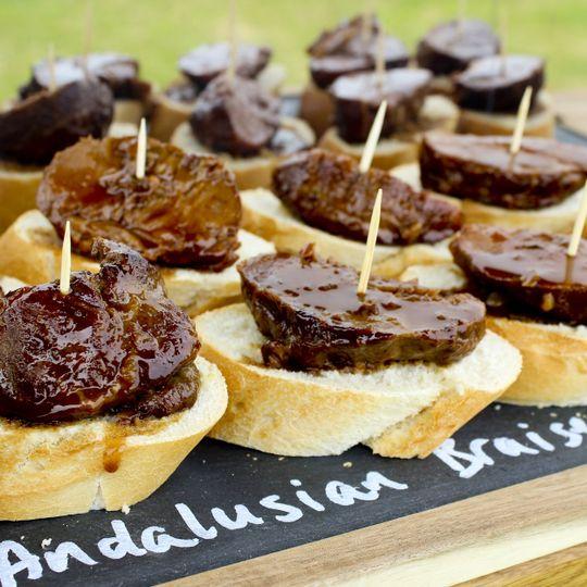 Andalusian braised pork tapa