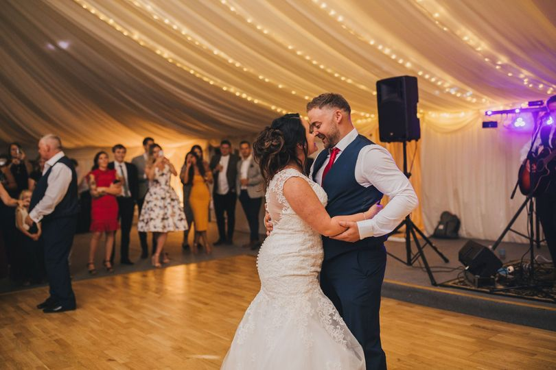 Newlyweds first dance