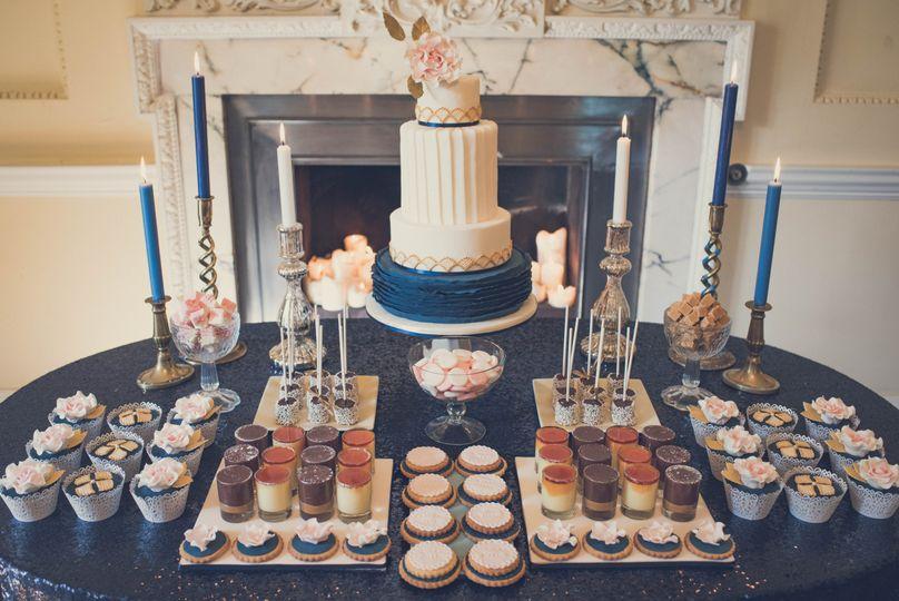 30s inspired wedding dessert table 4 124938