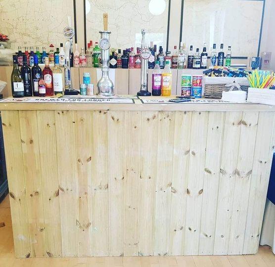 Wooden event bar