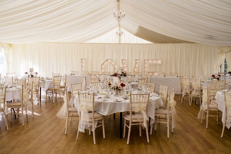 Inside the York House Marquee
