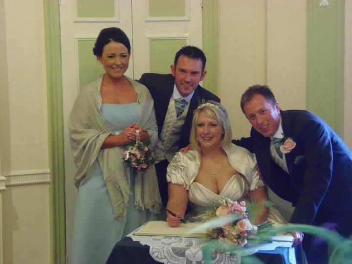Lovely wedding party