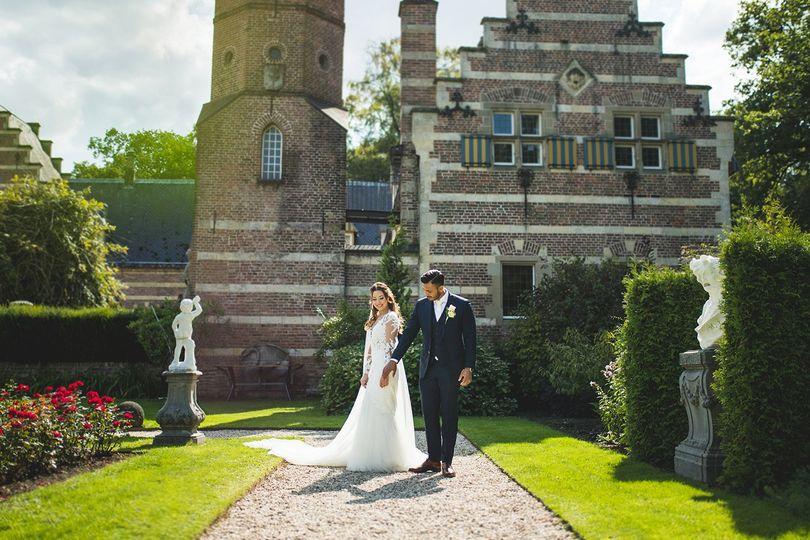 Kasteel Heeswijk bride and groom portraits