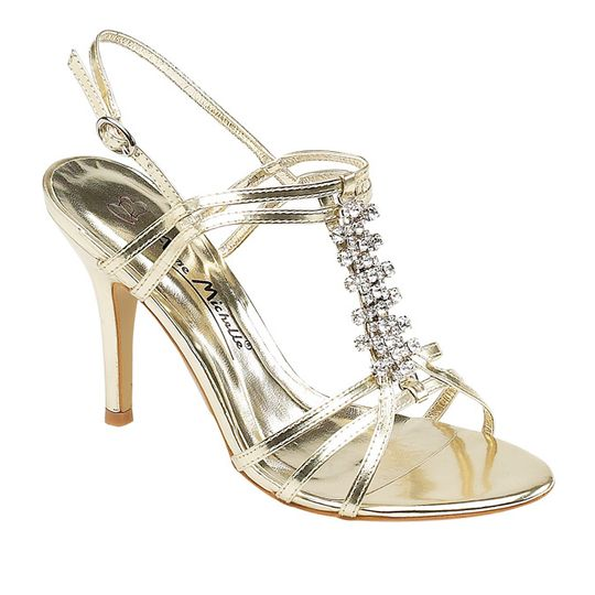 Gold Glitzy Diamante Sandals