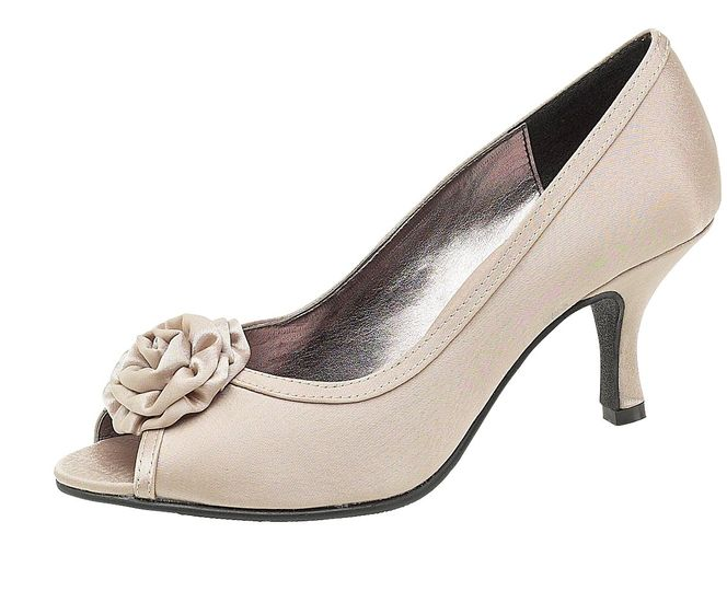 Taupe Satin Shoes