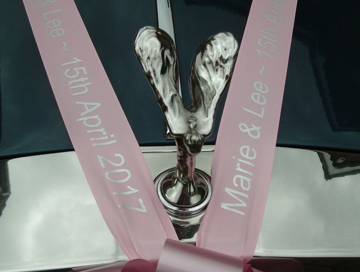 Keepsake satin ribbon/printed
